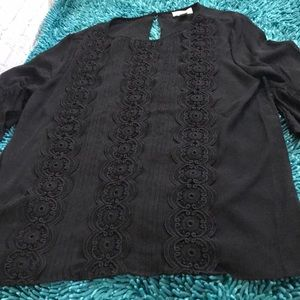 Loft  large black blouse